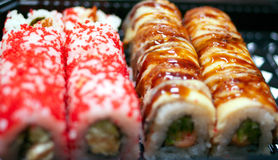 Sushi rolls background Royalty Free Stock Images