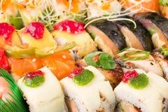 Sushi rolls background Royalty Free Stock Photo