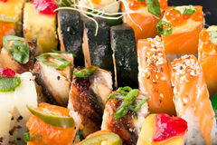 Sushi rolls background Royalty Free Stock Image