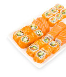 Sushi and rolls, clipping path Stock Photo