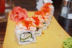 Sushi  Rolls closeup Stock Images