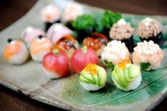 Sushi and Rolls closeup Stock Photo