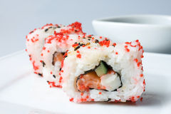 Sushi and Rolls closeup Royalty Free Stock Photo
