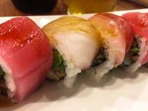 Sushi rolls. Closeup of tasty fresh sushi rolls Stock Photo