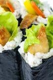 Sushi Rolls com camarão foto de stock