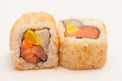 Sushi Rolls de la primavera Imagenes de archivo