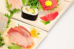 Sushi Rolls en el fondo blanco Fotografía de archivo libre de regalías