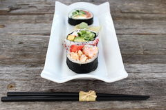 Sushi rolls entry Royalty Free Stock Photo