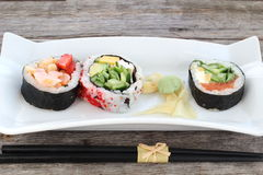 Sushi rolls entry Stock Images