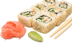 Sushi rolls in group Royalty Free Stock Image