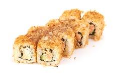 Sushi, rolls isolated on white Royalty Free Stock Photo