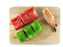 Sushi and rolls Royalty Free Stock Image