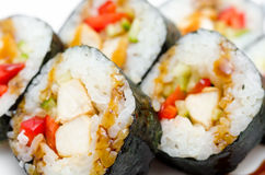 Sushi rolls, macro Royalty Free Stock Photo