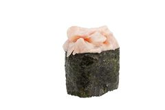 Sushi Rolls Makidzusi. Delicious baskets Makidzusi with red perch Royalty Free Stock Images