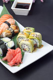 Sushi rolls and nigiri Royalty Free Stock Photos