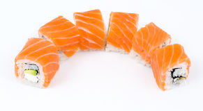 Sushi rolls philadelphia Royalty Free Stock Image