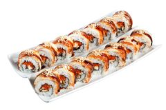 Sushi rolls philadelphia with clipping path Stock Photo