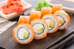 Sushi rolls philadelphia Royalty Free Stock Photography
