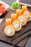 Sushi rolls philadelphia Stock Photo