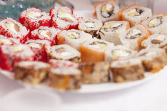 Sushi rolls on plate Royalty Free Stock Image