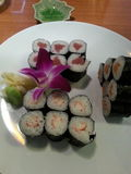 Sushi. Rolls on a plate Royalty Free Stock Photos