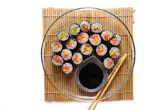 Sushi rolls on a plate Stock Photography