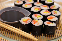 Sushi rolls on a plate Royalty Free Stock Photography