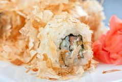 Sushi rolls of rice Stock Photography