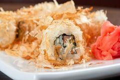 Sushi rolls of rice Stock Images