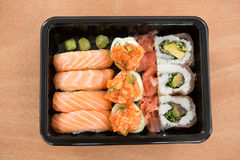 Sushi rolls with salmon Royalty Free Stock Photography