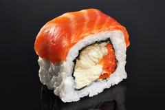 Sushi rolls with salmon, eel, caviar and philadelphia cheese. Stock Image