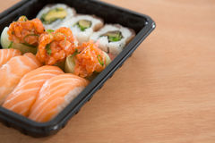Sushi rolls with salmon Stock Image