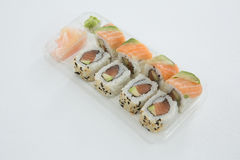 Sushi rolls with salmon Stock Photo