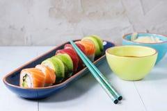 Sushi rolls set Royalty Free Stock Images