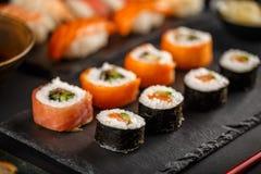 Sushi rolls set Stock Image
