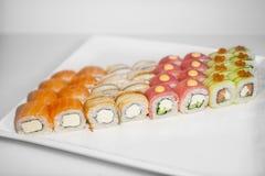 Sushi rolls set royalty free stock photos
