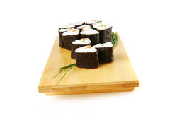 Sushi rolls with shnitt onion Stock Images