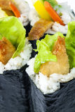 Sushi Rolls with Shrimp Stock Photo