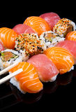 Sushi and rolls. Some different type of sushi and rolls Royalty Free Stock Image