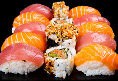 Sushi and rolls. Some different type of sushi and rolls Royalty Free Stock Photography