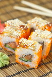 Sushi rolls on the table Royalty Free Stock Photo