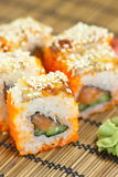 Sushi rolls on the table Stock Images