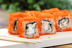 Sushi rolls on the table Stock Photos