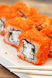Sushi rolls on the table Royalty Free Stock Image