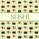 Sushi and rolls. Template with space for text Stock Photo