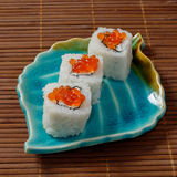 Sushi, rolls. Sushi rolls. The traditional Japanese cuisine Royalty Free Stock Photos