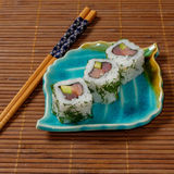 Sushi, rolls. The traditional Japanese cuisine Stock Photo