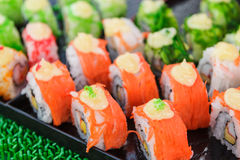 Sushi rolls traditional japanese food Royalty Free Stock Images