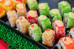 Sushi rolls traditional japanese food Royalty Free Stock Photo