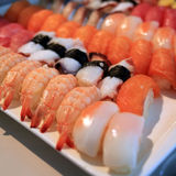 Sushi rolls traditional japanese food Stock Images